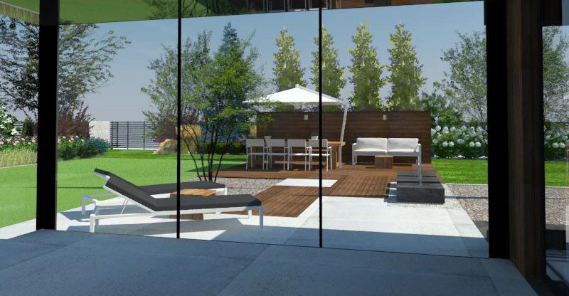 Projekt wizualizacja projektu ogrodu