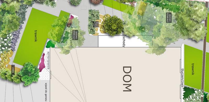 Projekt ogrodu skośnej działki
