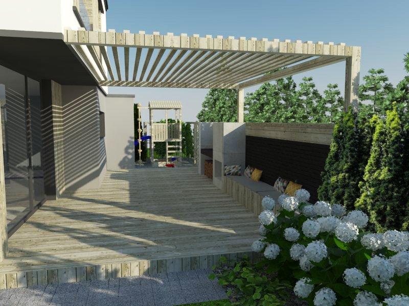 Wizualizacja projektu ogrodu
