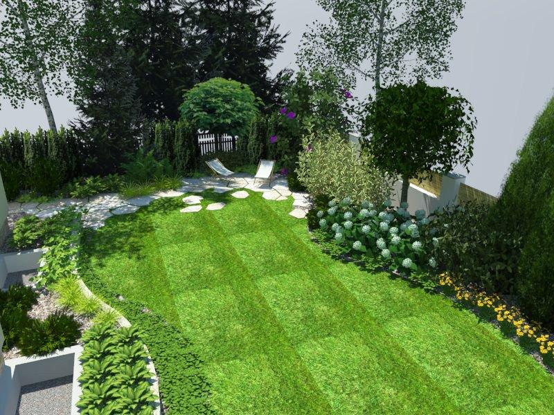 Wizualizacja ogrodu zacienionego