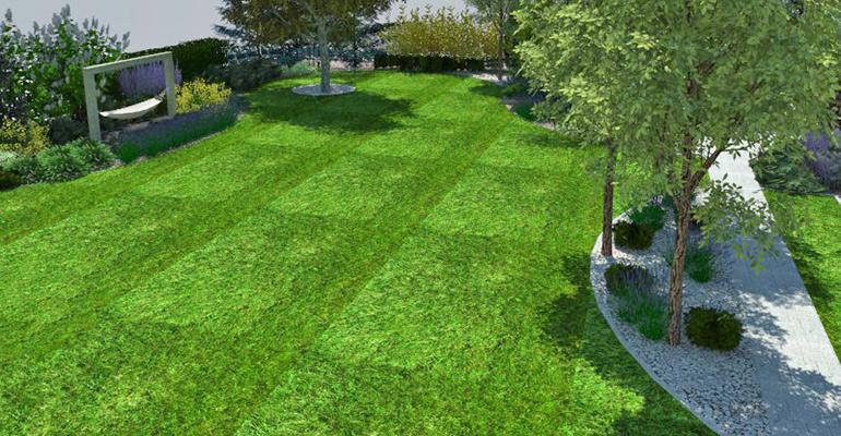 Projekt wizualizacja dużego ogrodu