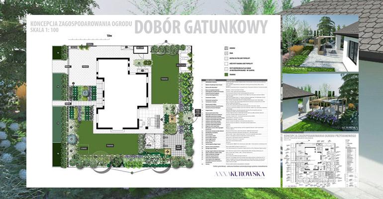 Projekt ogrodu domu jednorodzinnego
